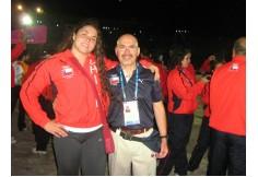 Masoterapeutas Deportivos trabajando en la Olimpiadas junto a Natalia Duco.